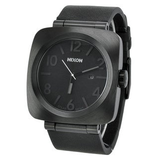 Nixon 'Volta' Black Leather Chronograph Watch