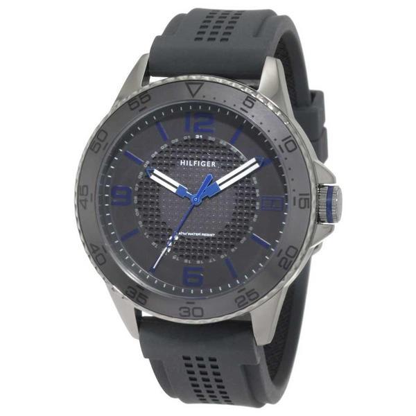 Tommy Hilfiger Men's 'Kiefer' 1790836 Grey Silicone Sports Watch