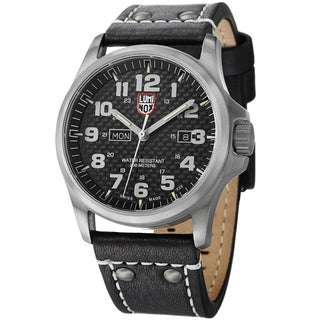 Luminox Men's 'Atacama Field Day' 1921 Black Leather Watch