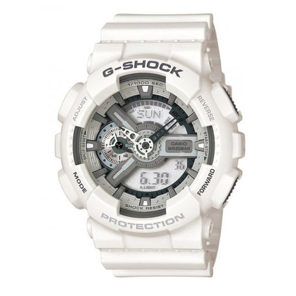 Casio Men's 'G-Shock' White Hybrid Chronograph Watch