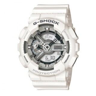 Casio Men's 'G-Shock' White Hybrid Chronograph Watch