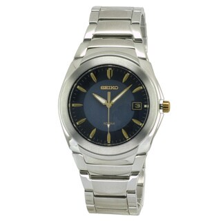 Seiko Men's 'Everyday' Stainless Steel Blue Dial Watch