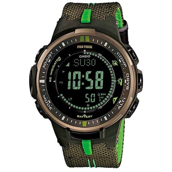 Casio Men's 'Pro Trek' Green Digital Watch