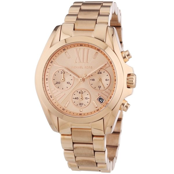 Michael Kors Women's 'MK5799 Bradshaw Mini' Rose Goldtone Watch