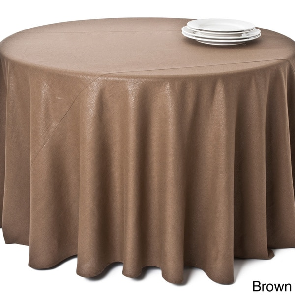Classic Shimmer Round Tablecloth