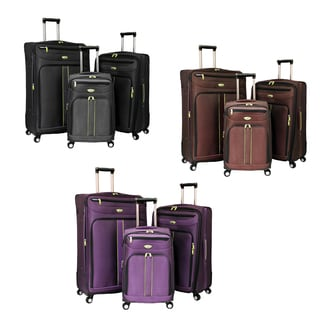 American Travel Explorer 3-piece Expandable Spinner Luggage Set