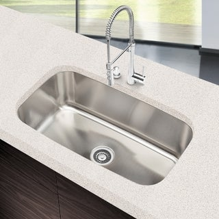 Designer Collection 31.5-inch 18-gauge Extra-large Single Bowl Kitchen Sink