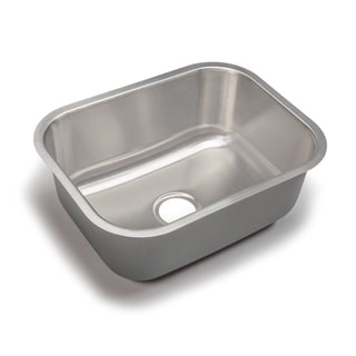 Designer Collection 23-inch 18 Gauge Large Single Bowl Kitchen Sink