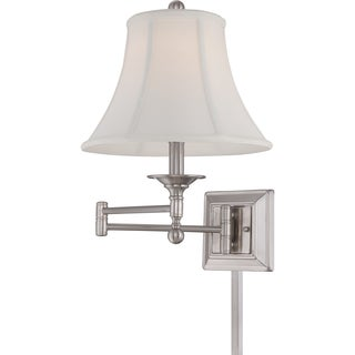 Quoizel Baker Single-light Brushed Nickel Swing Arm Wall Lamp