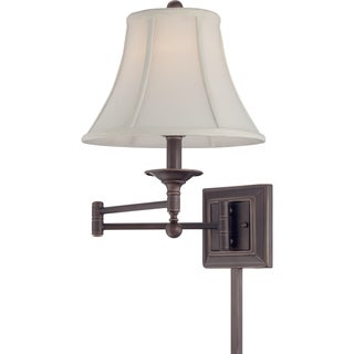 Quoizel Baker Single-light Palladian Bronze Swing Arm Wall Lamp