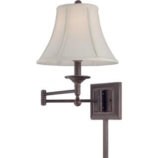 Quoizel Baker Single-light Palladian Bronze Swing Arm Wall Lamp