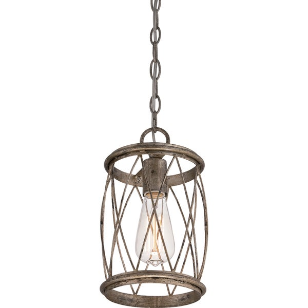 Dury Single-light Silver Leaf Mini Pendant