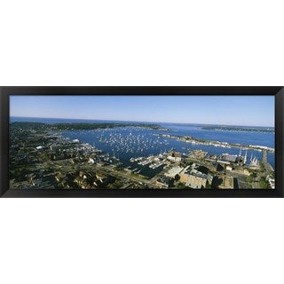 'Newport Harbor, Rhode Island' Framed Panoramic Photo