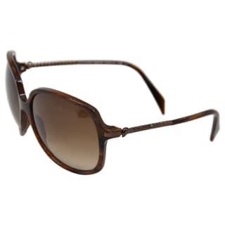 Alexander McQueen 'Horn Walnut Brown' 4171/S 0O1X Women's Sunglasses