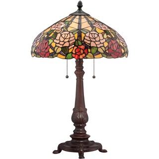 Bowman Tiffany Art Glass Russet Finish 2-light Desk Lamp
