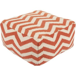 Large Square Chevron 24-inch Pouf