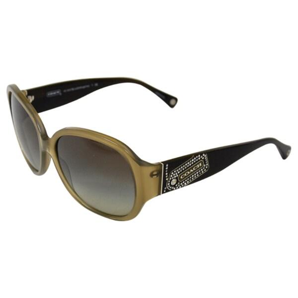 Coach Women's 'Angeline HC8037B' Olive Oversized Sunglasses