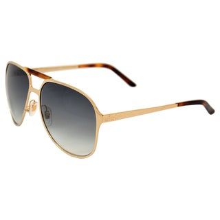 Gucci Women's 'GG 2206/S J5G' Gold Aviator Sunglasses