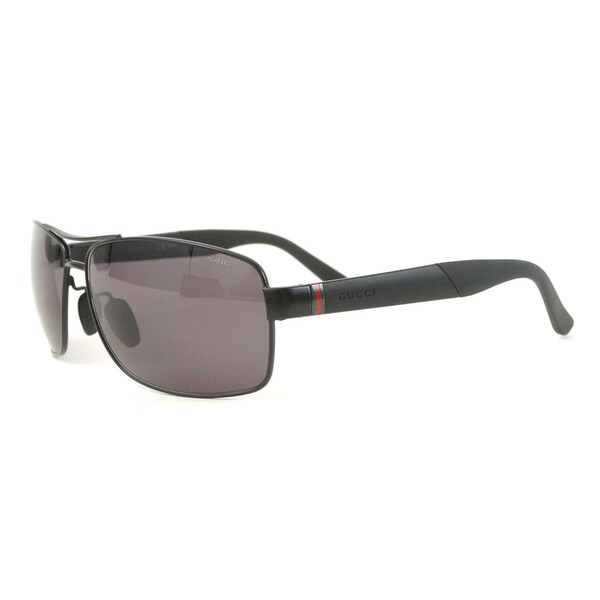 Gucci Men's 'GG 2234/S C0Y3H' Matte Black Polarized Sunglasses
