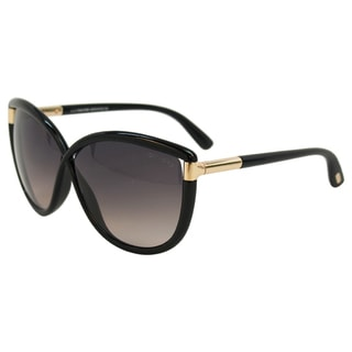 Tom Ford Women's 'FT0327 Abbey 01B' Shiny Black Sunglasses