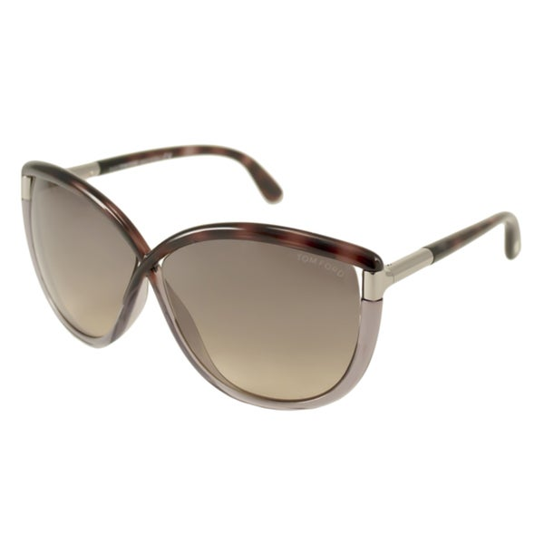 Tom Ford Women's 'FT0327 Abbey 56B' Havana/Grey Sunglasses
