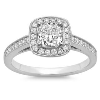 14k White Gold 1 1/3ct TDW Cushion-cut Diamond Engagement Ring (G-H, SI2-I1)