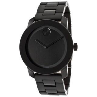 Movado Bold 3600047 Large Black Polymer Bracelet Watch