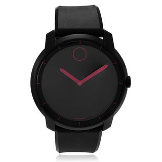 Movado Bold 3600192 Women's Black/ Pink Polyurethane Watch