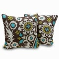 Orleans Square 18-inch Decorative Throw Pillows (Set of 2)