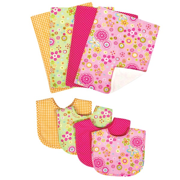 Trend Lab Sherbet 8-piece Bib & Burp Cloth Set