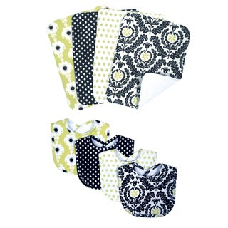 Trend Lab Waverly Rise & Shine 8-piece Bib & Burp Cloth Set
