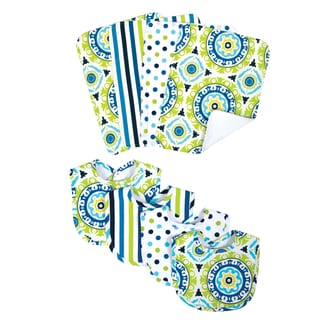 Trend Lab Waverly Solar Flair 8-piece Bib & Burp Cloth Set