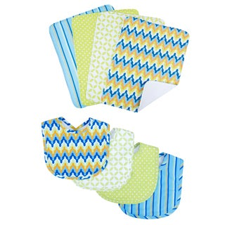 Trend Lab Levi 8-piece Bib & Burp Cloth Set