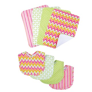 Trend Lab Savannah 8-piece Bib & Burp Cloth Set