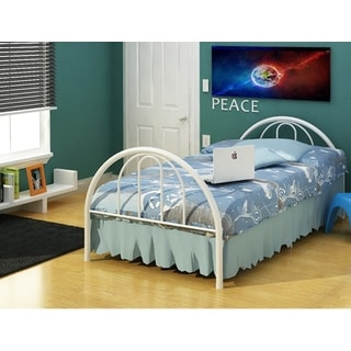 Rack Brooklyn White Steel Twin Bed