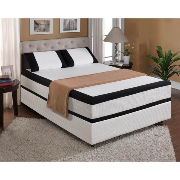 Cool Jewel Starlight 12-inch Queen-size Gel Memory Foam Mattress