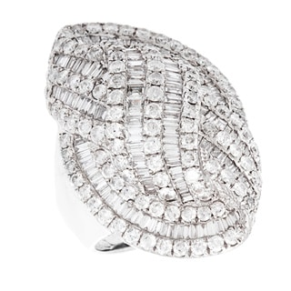 14k White Gold 5 1/4ct TDW Diamond Cocktail Estate Ring (I-J, SI1-SI2)