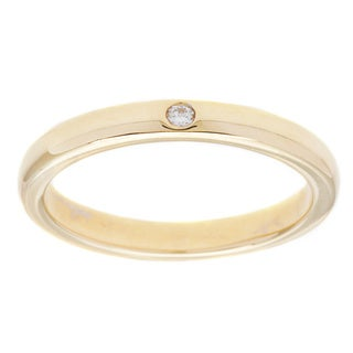 Tiffany & Co. 18k Yellow Gold Elsa Peretti White Diamond Accent Stacking Ring