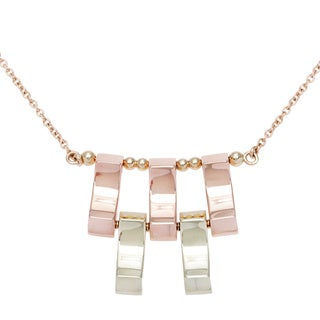 14k Two-tone Gold Five Gold Bar Estate Necklace