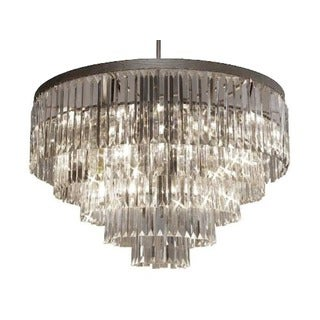 Odeon Crystal Glass 17-light 5-tier Contemporary Chandelier