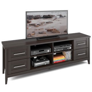 CorLiving Jackson Espresso Finish Extra Wide TV Bench