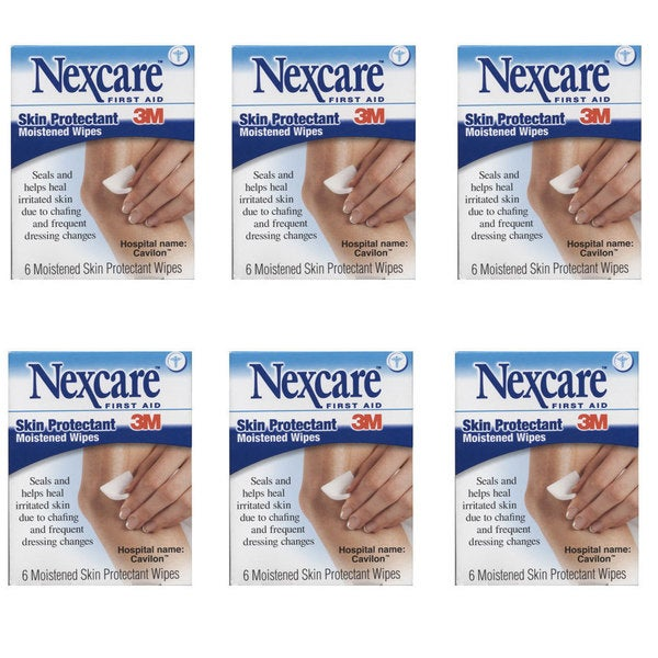 Nexcare Six Moistened Skin Protectant Wipes (Pack of 6)