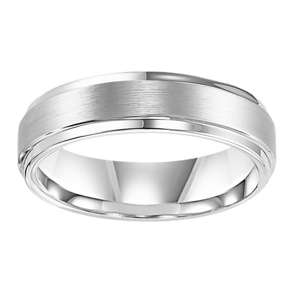 Cambridge White Tungsten Carbide Men s Satin Finish fort Fit Wedding B