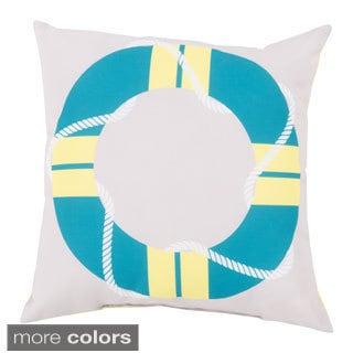 Life Saver Indoor/Outdoor Decorative Throw Pillow