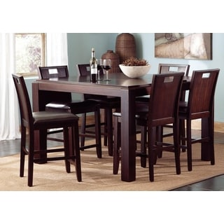 Belveder Espresso Counter Height 7-piece Dining Set