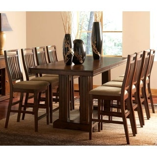 Marissa Dark Oak 9-piece Counter Height Dining Set