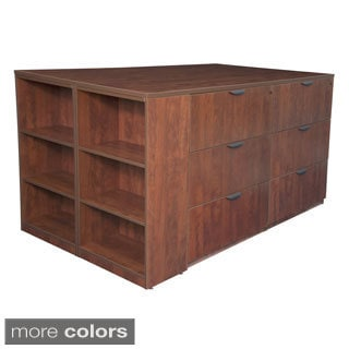 Stand Up Lateral File Quad with Bookcase End