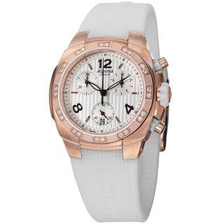 Alpina Women's AL-350LWWW2AD4' 'Avalanche' Rose Goldtone Diamond Chronograph Watch