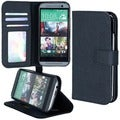 Abacus24-7 HTC ONE Black M8 PocketBook Wallet Case Cover