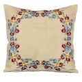 Laura Ashley Melinda 16-inch Embroidered Decorative Throw Pillow